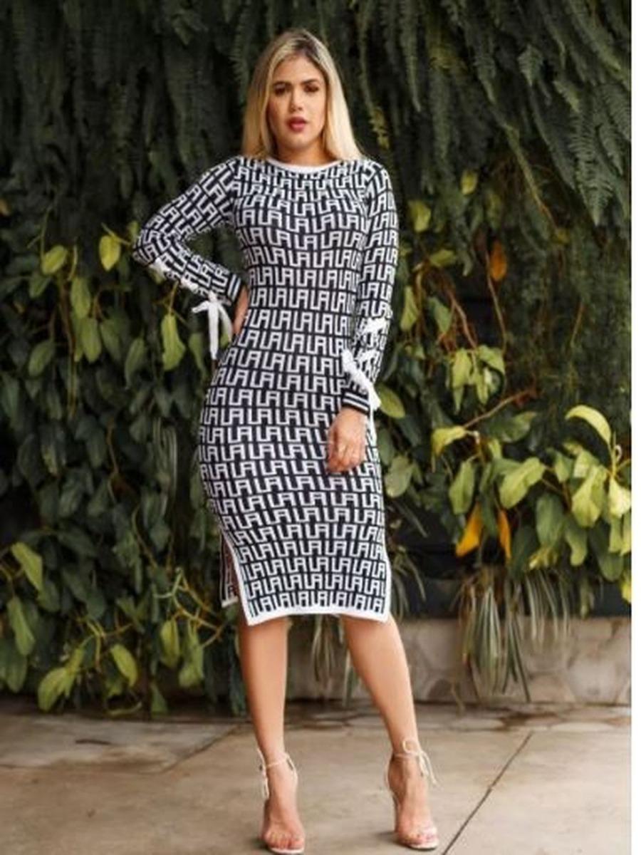 bfe9b6228c68 Vestido Tricot Tricô Outono Inverno 2019 - R$ 99,90 em Mercado Livre