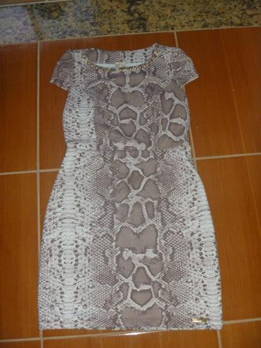 vestido tubinho cobra pp/p semi novo curto