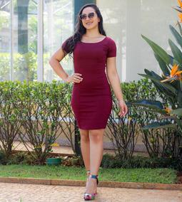 02c856f67bed Lindos Vestidos Com Recortes - Vestidos Bordô Médio com o Melhores Preços  no Mercado Livre Brasil