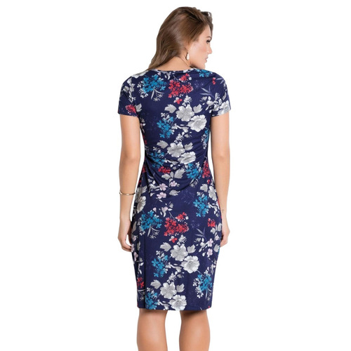 vestido tubinho midi moda evangélica justo blogueira florido