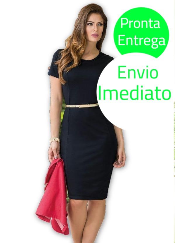 1052e957ce vestido tubinho preto moda evangélica frete grátis. Carregando zoom.