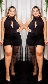 82afcfd77 Macaquinho Com Tule Transparente - Vestidos no Mercado Livre Brasil
