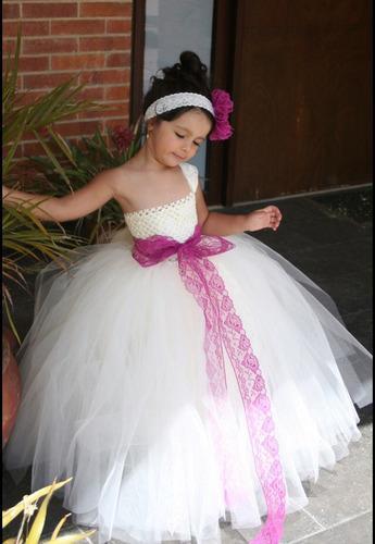 vestido tutu bautizo , pajecita