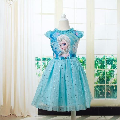 vestido tutu frozen princesa elsa - tallas 3 años y 4 años