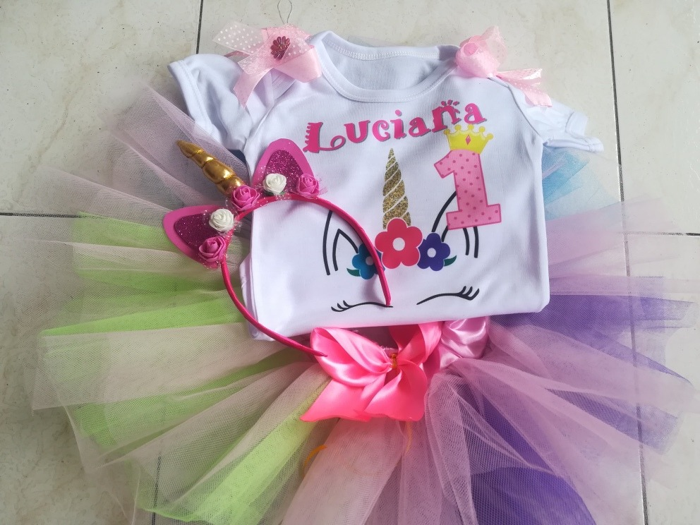 Vestido tutu ni a unicornio bebe en mercado libre for Recamaras de unicornio para ninas