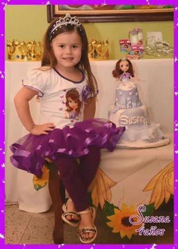 vestido tutu princesa sofia