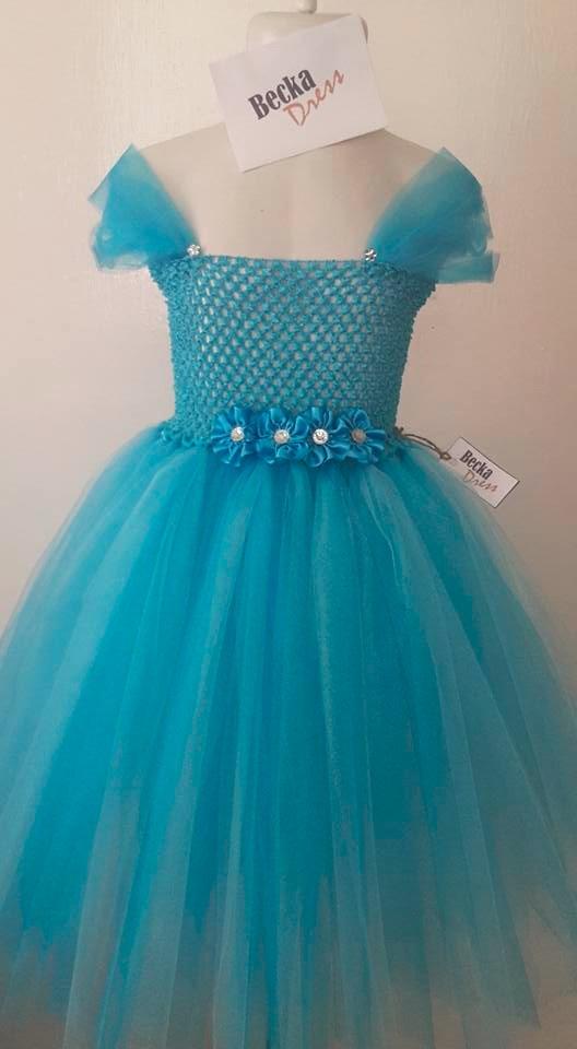 Vestido Tutu Tul Para Niña Tallas 2 A 6 Personaliza