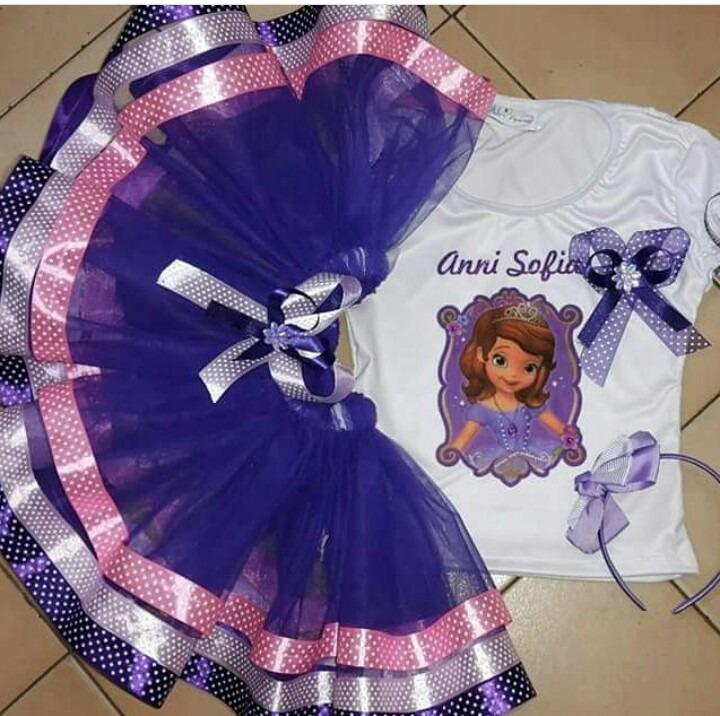 Vestido Tutu Tutus Niña Princesa Sofia Nombre Fiesta - $ 65.000 en ...