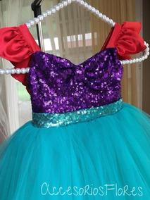 Vestido Tutututu Dress De La Sirenita Ariel Accesorio