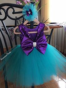 Vestido Tutututu Dress De La Sirenita Vincha O Accesorio