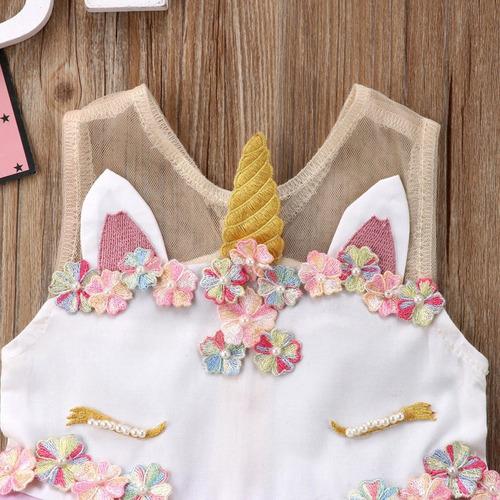 vestido unicornio hermoso de colores  con envió gratis