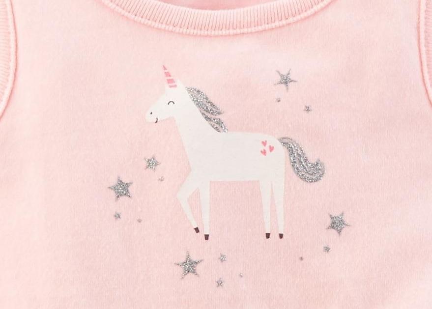 Vestido Unicornio Tapa Fralda 18 Meses Carter S 118i229 R 84 00