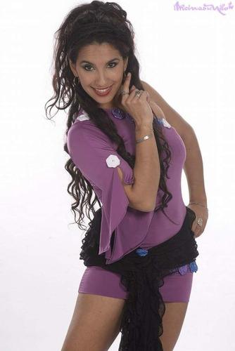 vestido unimanga tipo mileia para danza arabe belly dance
