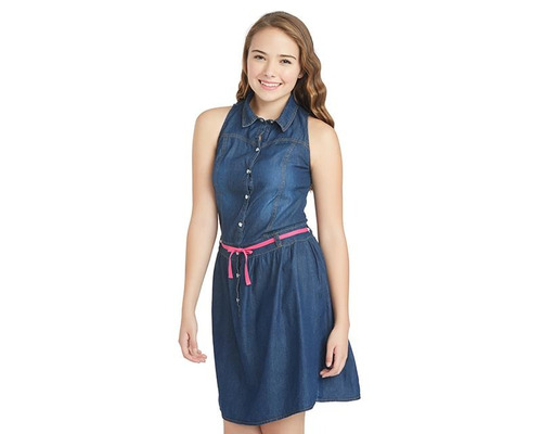 vestido up & down girls azul pr-4730332