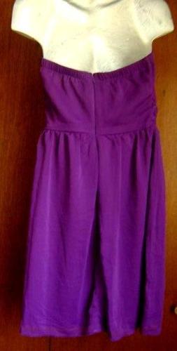 vestido uva strapless. talla 8 o 30 de gasa o chifón