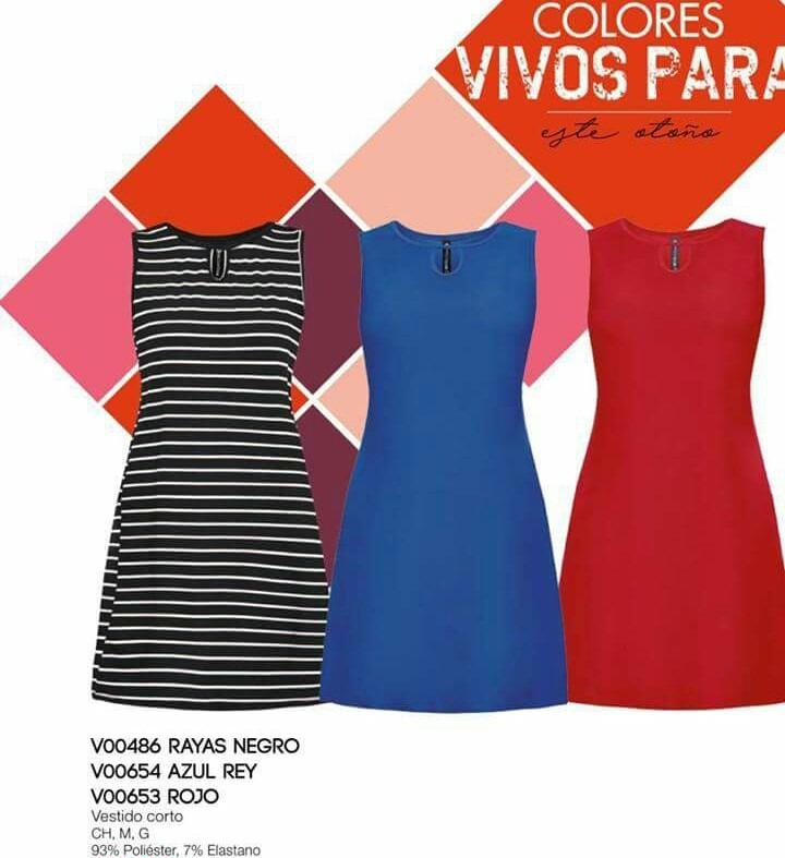 f810e26085 Vestido V653 Rojo Basico Linea A Moda Nacional Moda Club Ma ...