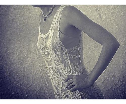 vestido var's con enagua