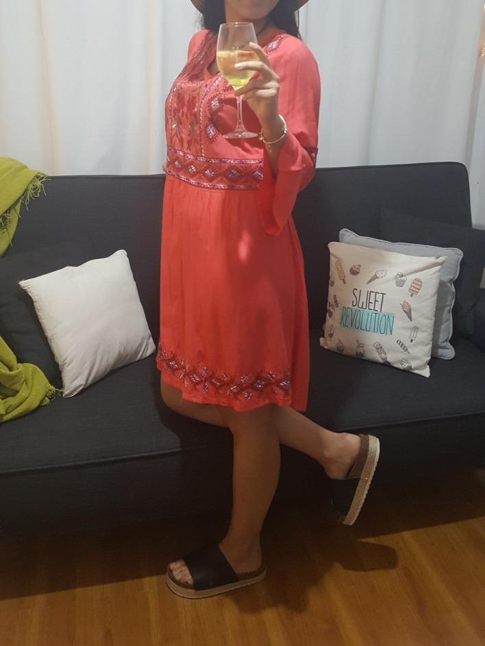 98258c7c19a2f vestido verano 2018 con bordado estilo boho chic. Cargando zoom.