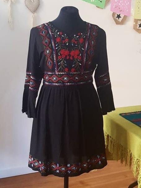 6a31049983 Vestido Verano 2018 Con Bordado Estilo Boho Chic -   570
