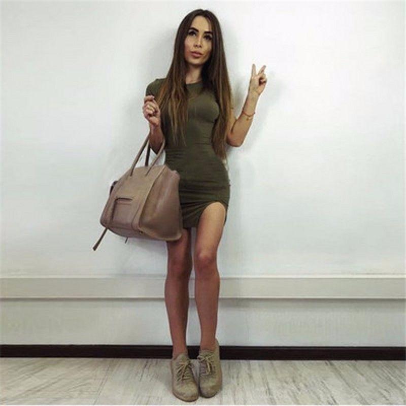 zoom army verde bodycon sleeveless mujer evening bandage Cargando vestido  q568AWdxq 872d43070ed5