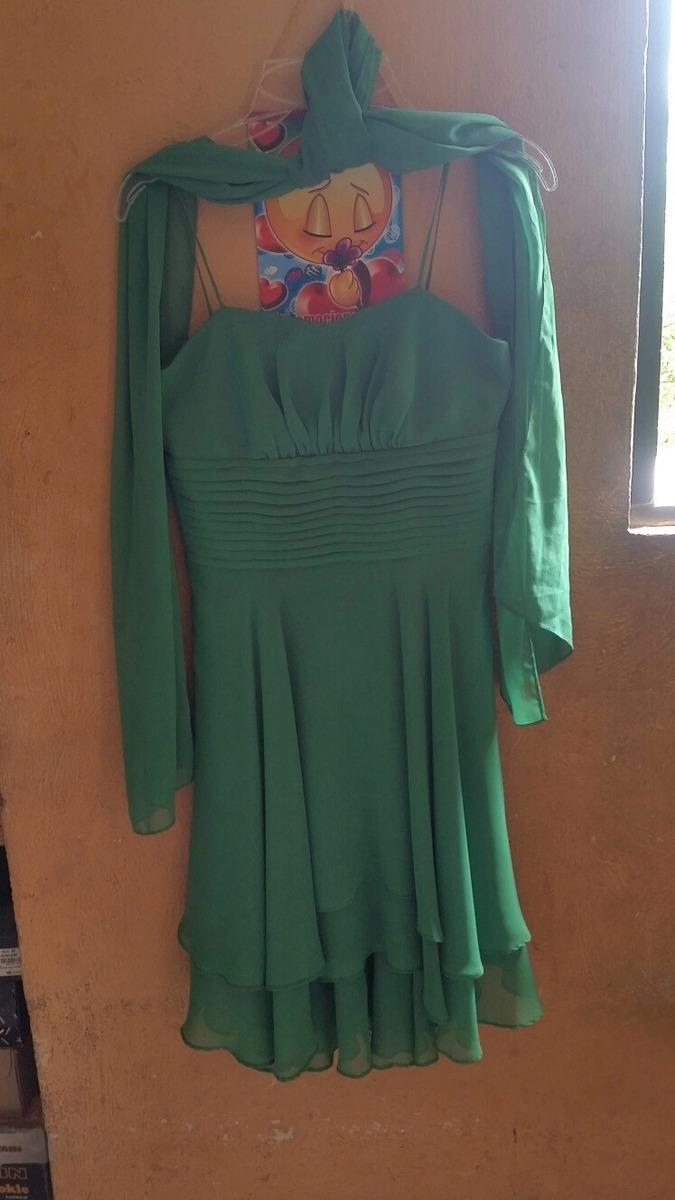 Vestido Verde Bandera De Graduacion Talla 3 En Buen Estado 40000