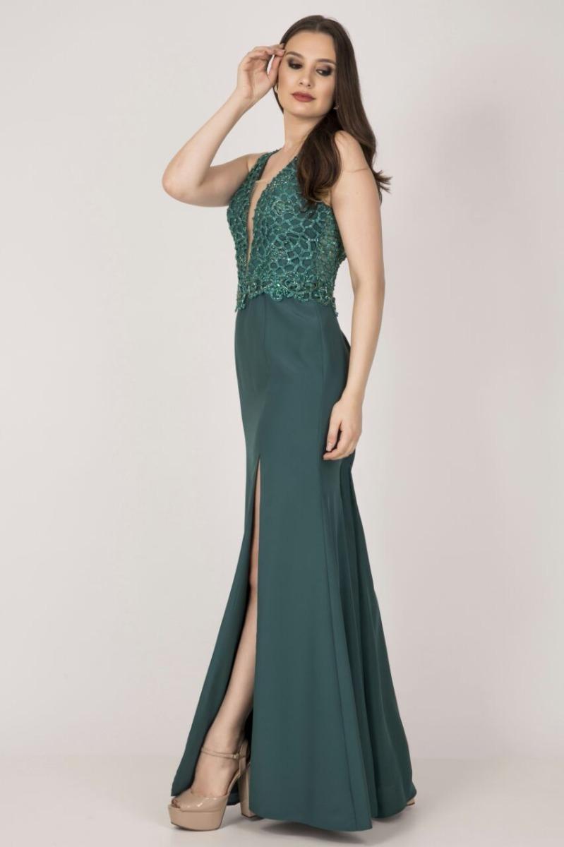 Vestido verde madrinha de casamento