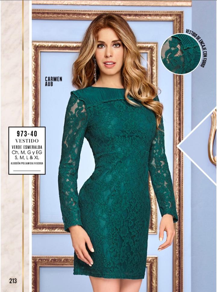 Vestidos verdes de encaje