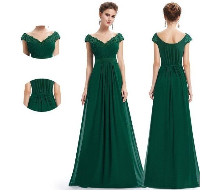 talla 40 76cf7 92ecb Vestido Verde Esmeralda Formanda Madrinha Festa Convidada G