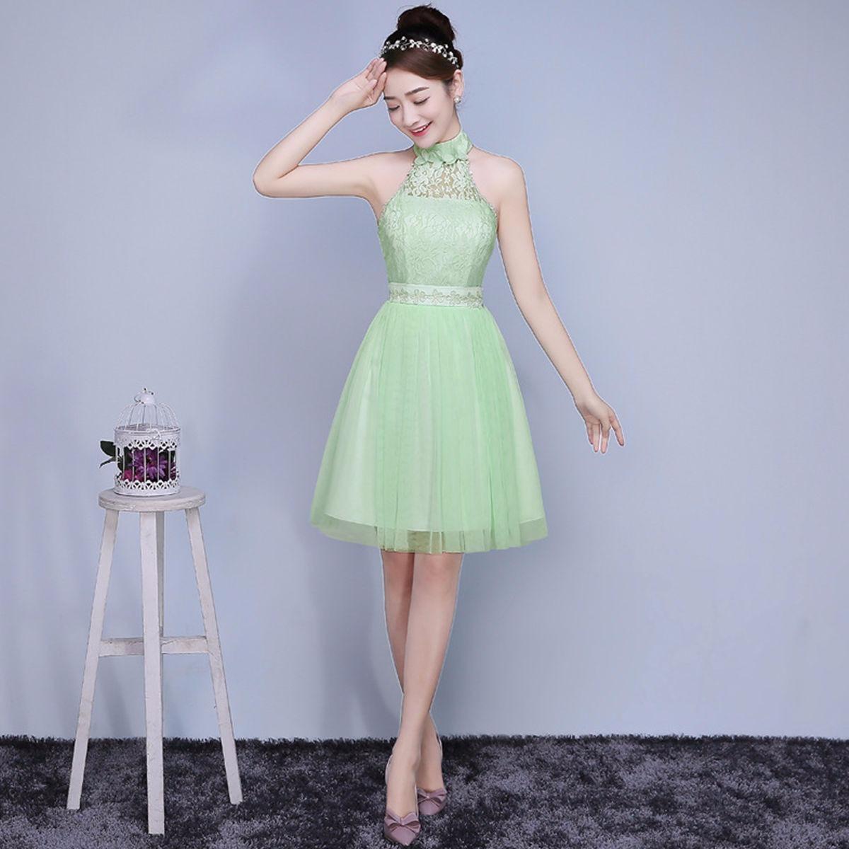f24e1624539 vestido verde fashion elegante fiesta grados dama de honor. Cargando zoom.