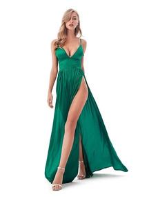 b554858c3184 Vestido Verde Largo De Fiesta |por Encargue