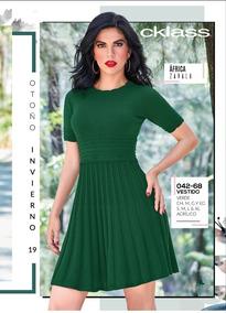 Vestido Verde Mod 042 68 Oi 2019