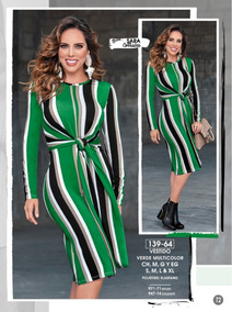 88944c16c Vestido Verde Multicolor 139-64 Cklass  Mundo Outlet