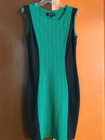 Vestido Verde Negro Julio Talla 2 Nuevo