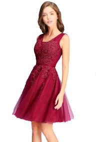 1e288a54a Vestido Festa 15 Anos Debutante Curto Tule Bordado Princesa