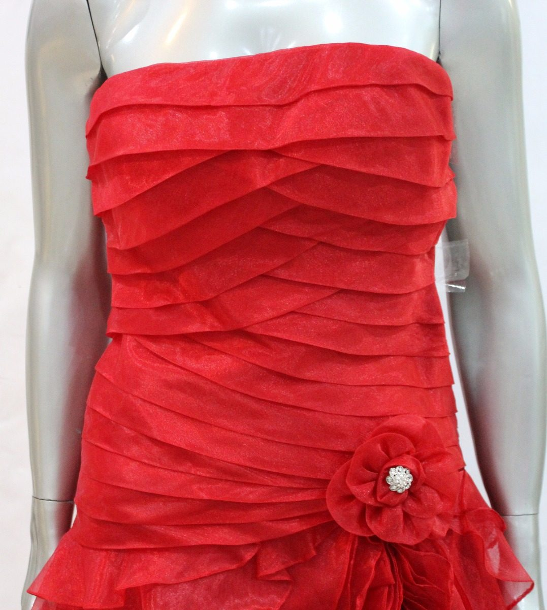 aae227ce47 vestido vermelho longo babados importado tomara caia festa. Carregando zoom.