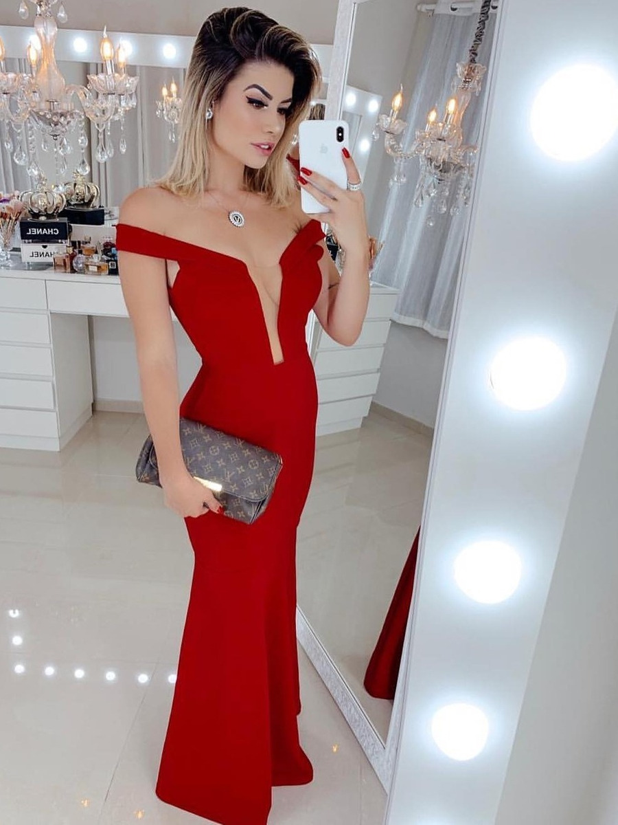 238162b7d vestido vermelho longo festa madrinha casamento formatura. Carregando zoom.