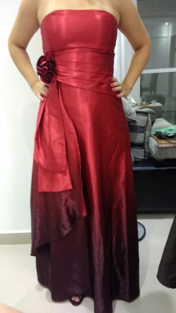 a104d2574f vestido vermelho madrinha formatura degradê. Carregando zoom.