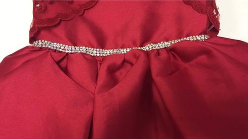 vestido vermelho petit cherie festa infantil 11.12.31180