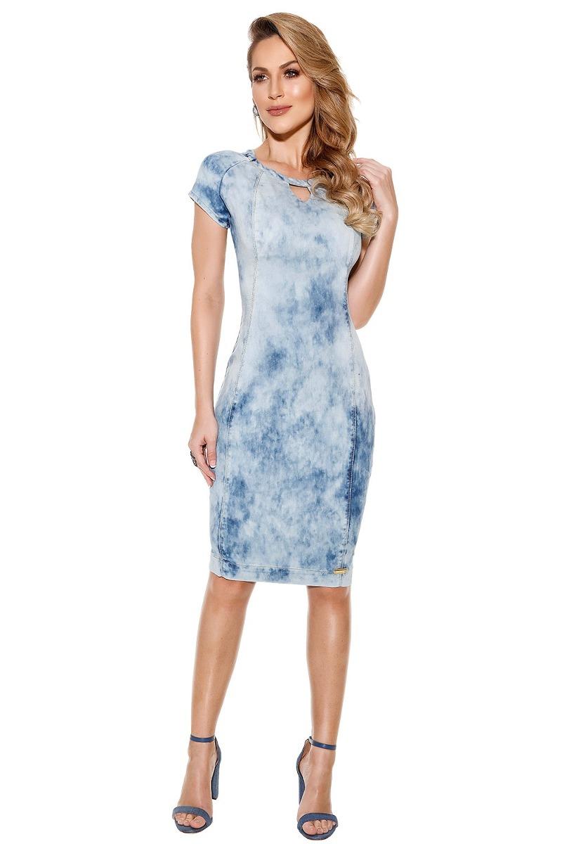 457577cc9d vestido vestido titanium jeans tubinho moda evangélica. Carregando zoom.