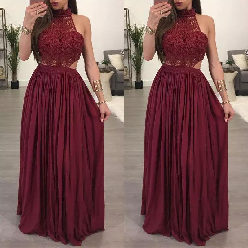 Vestido Vino Largo