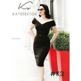 83a7cb876 Vestido Vintage Escote V Falda Tubo Katspektor #k3