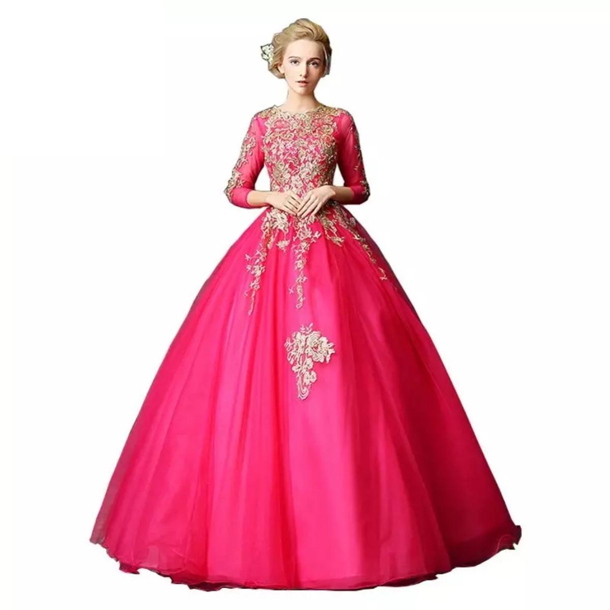 46086c832 vestido vintage fiusha ml709 quinceaños. Cargando zoom.