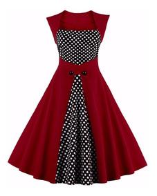selección premium 6226e 692bc Vestido Vintage Pin Up, Años 50, Rockabilly Va 216