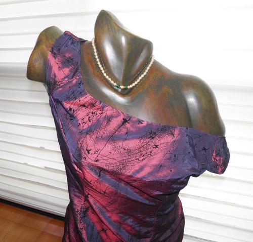 vestido vintage  vinotinto tornasol