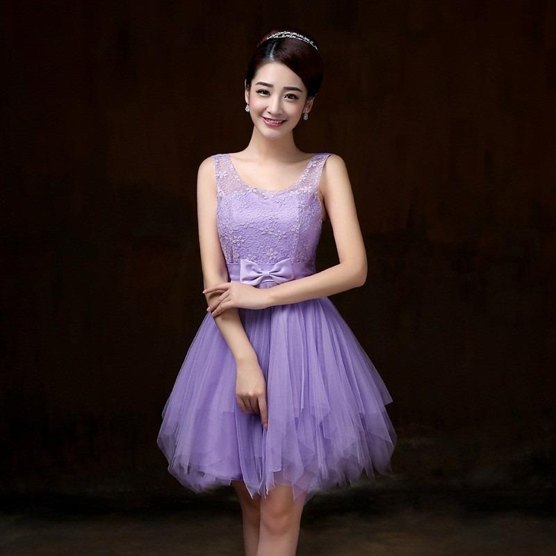 Vestido Violet Fashion Elegante Formal Grados Fiesta Cóctel ...