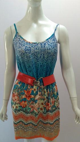 vestido viscolycra barrado verão lindo