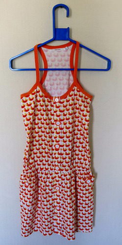 vestido women secret blanco naranja