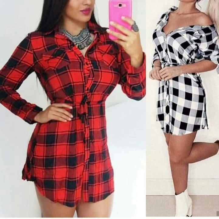 c86a24ea4 Vestido Xadrez Feminino Moda Outono/ Inverno2018 - R$ 76,00 em ...