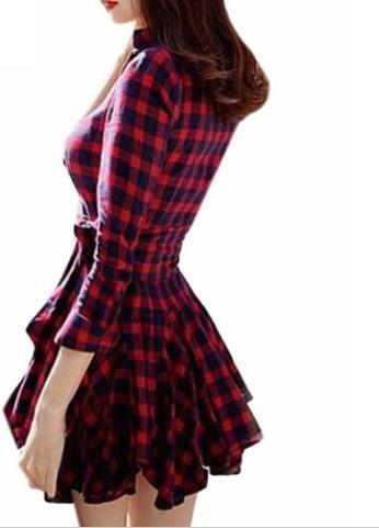 vestido xadrez pronta entrega ref: 0100
