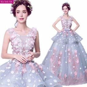 c7f245f5c9 Vestidos De 15 Años Con Flores 3d - Vestidos en Mercado Libre México